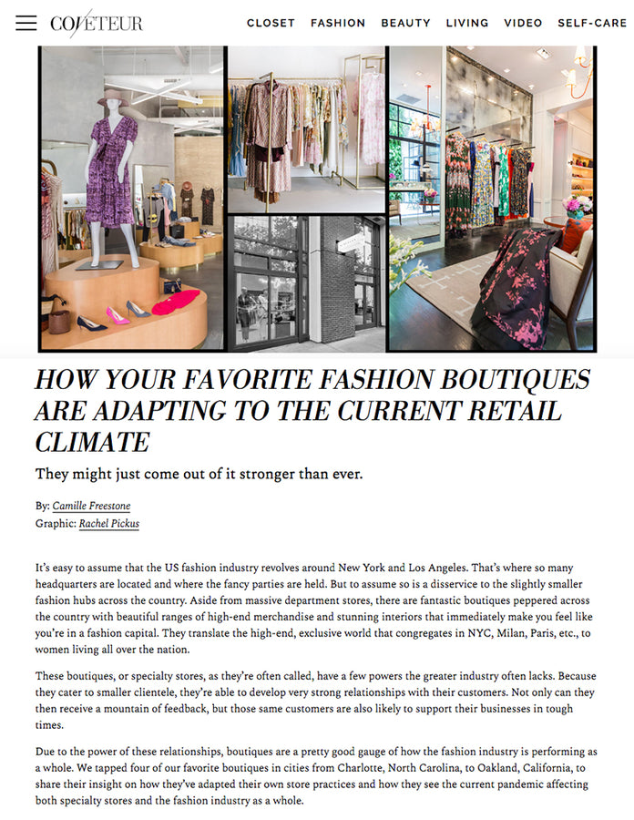 How Your Favorite Fashion Boutiques Are Adapting To The Current Retail Climate