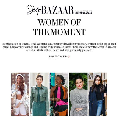 Stacy Featured in Bazaar's Women of the Moment