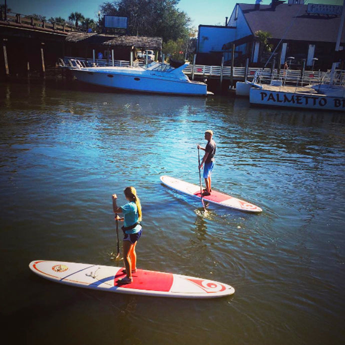 Paddleboarding on Shem Creek