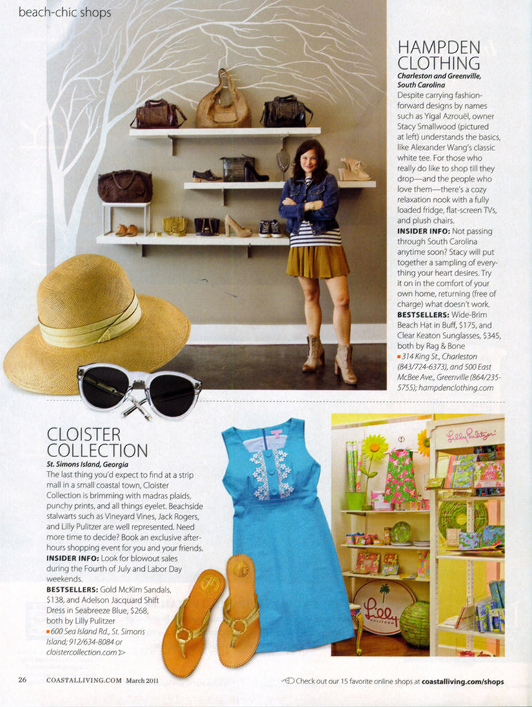 Coastal Living - Beach Chic Shops - Jan 2011