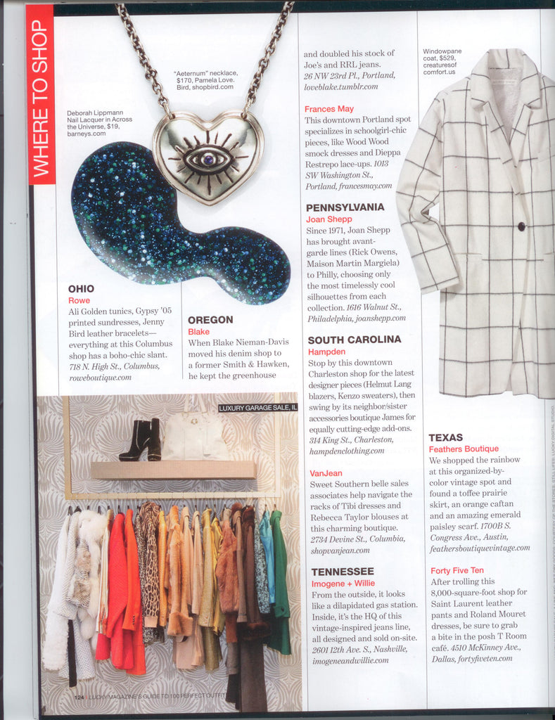 Lucky Mag - Where To Shop - Jan 2013