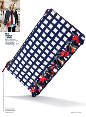 Lucky Mag - The Playful Clutch - Jan 2015