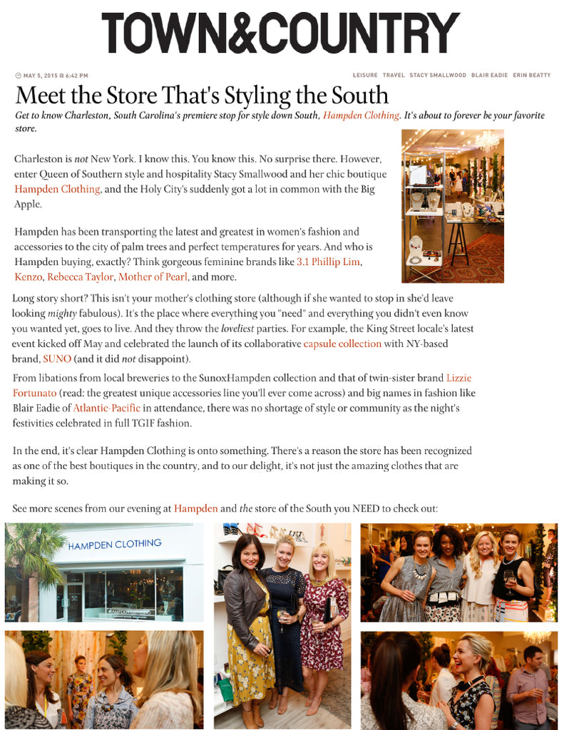 Town & Country - Meet The Store That's Styling The South - Jan 2015