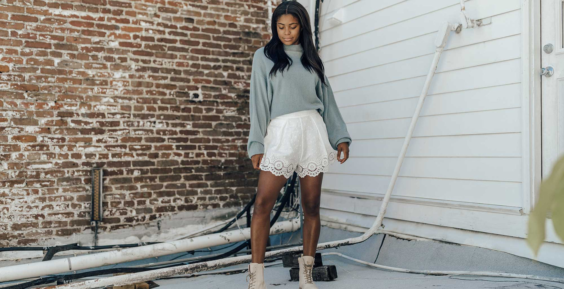 End of Summer: Sweaters + Shorts