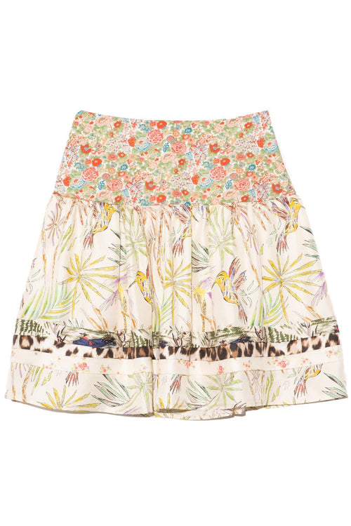 Pauline Skirt in Mixed Malibu Print