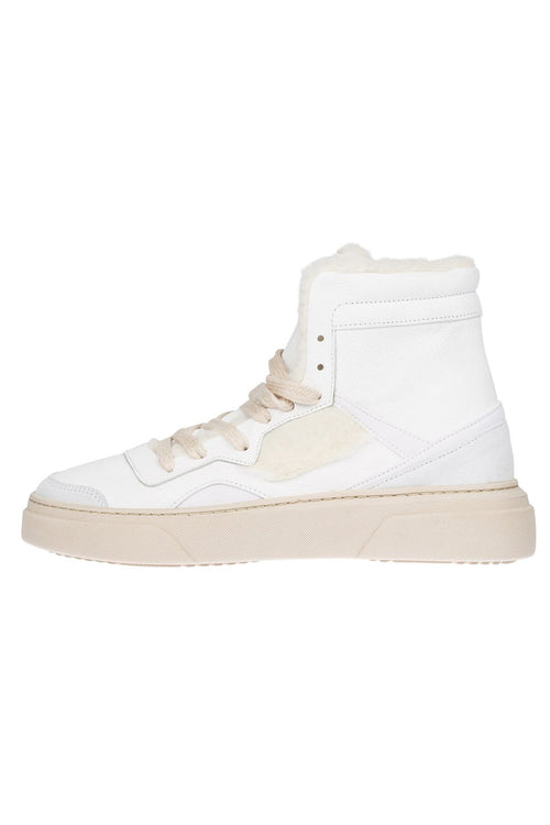 Sporty Movement High Top Sneaker in Pure White