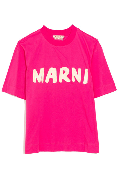 Crew Neck Logo T-Shirt in Starlight Pink