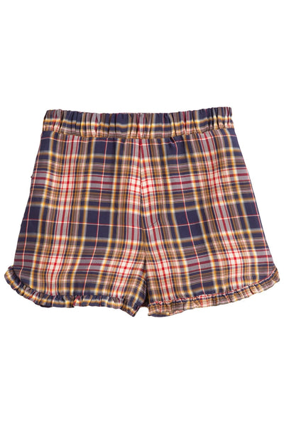 Rooney Ruffle Shorts in Plaid