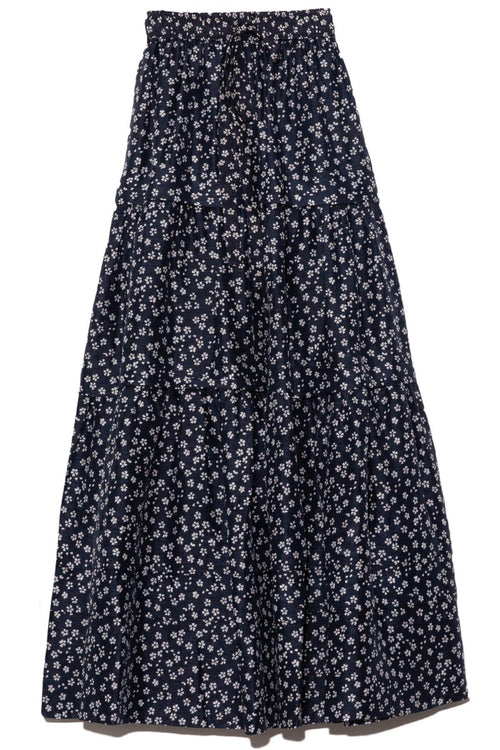 Constance Floral Maxi Skirt in Navy