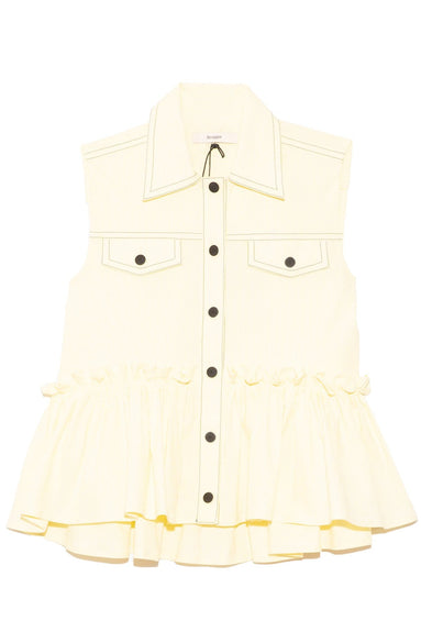 Else Top in Pale Yellow