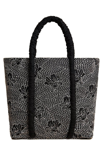 Asha Tote in Black/White