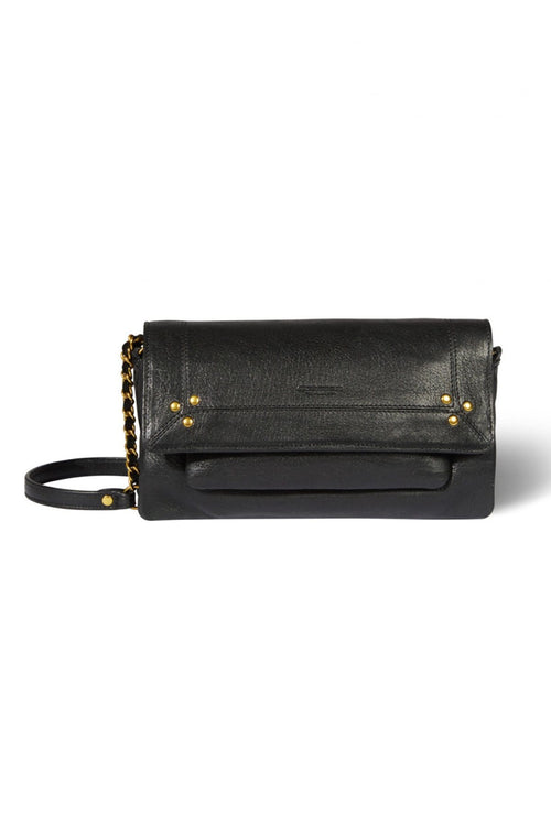 Charly Small Lambskin Bag in Black