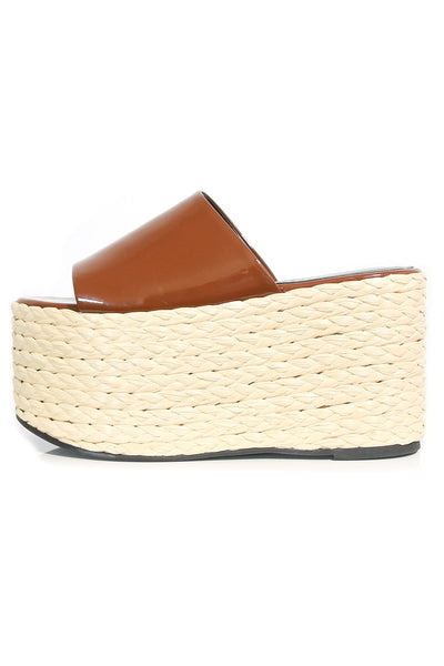 Blackout Platform Espadrille in Root Beer Bottle