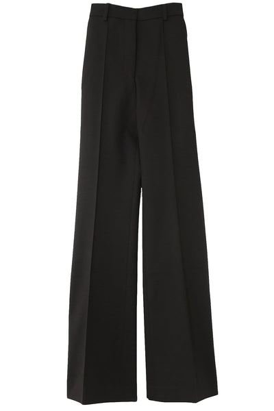 Stretch Cotton Richard Trousers in Black