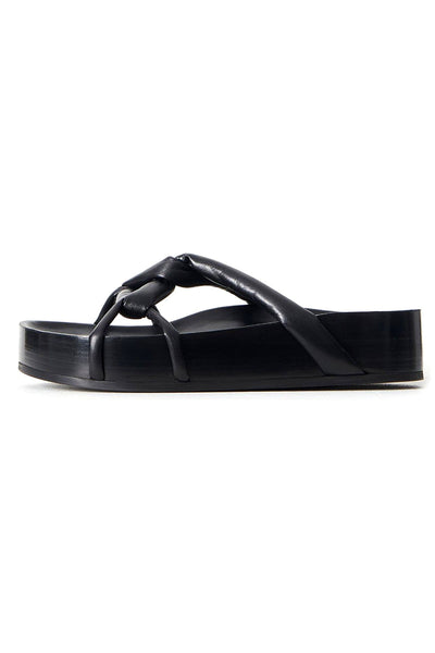 Cord Sandals in Black