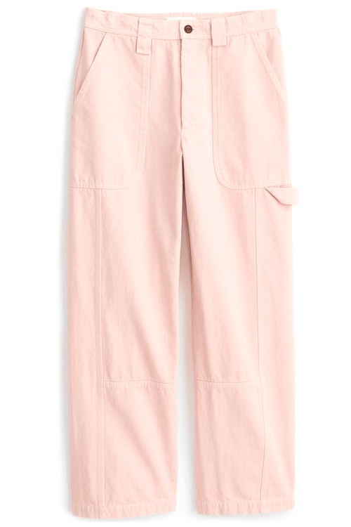 Phoebe Pant in Upcycled Denim Pale Pink