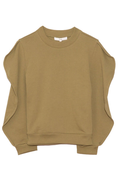 Scallop Sweatshirt in Moss