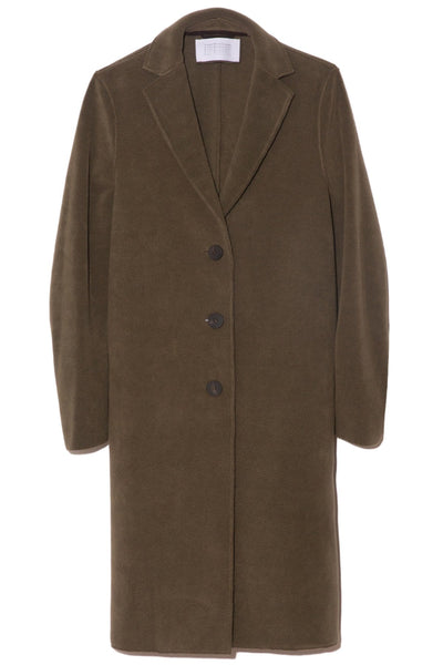 Overcoat in Moss Green