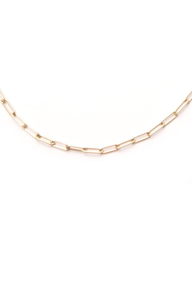 14K Gold 18' Paperclip Chain