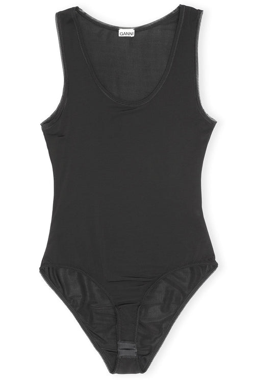 Rayon Bodysuit in Black