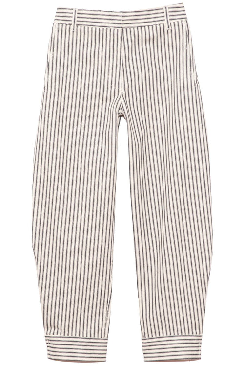 Railroad Denim Sculpted Pant in Ivory/Black