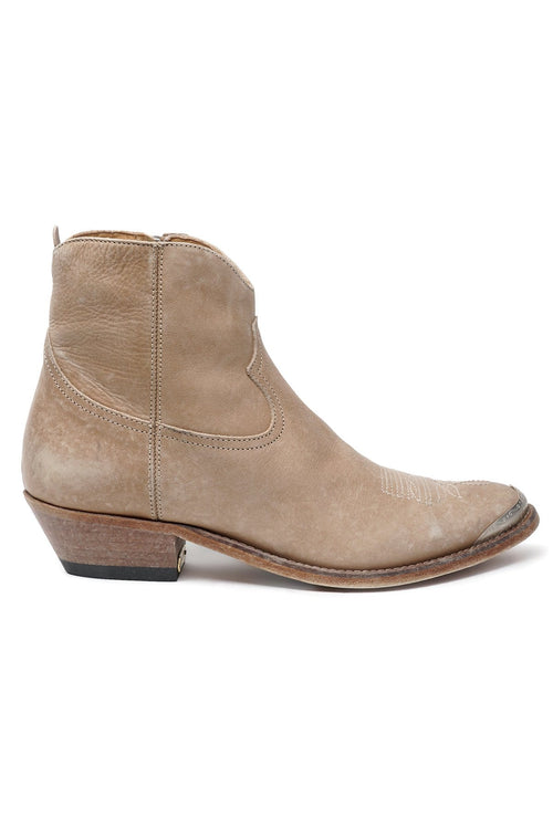 Young Boot in Cord Brown