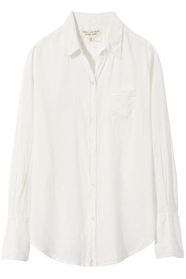 Cotton Voile Shirt in Ivory