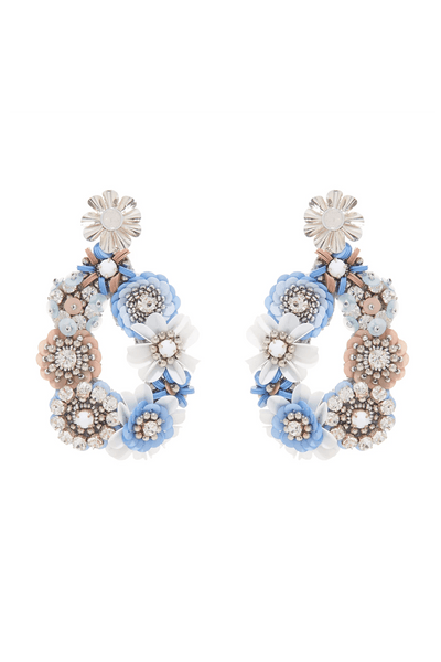 Elyse Earring in Baby Blue/Silver