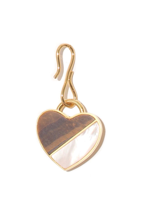 Porto Pendant in Tigers Eye Heart