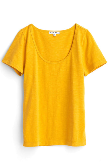 Scoop Slub Cotton Tee in Honey