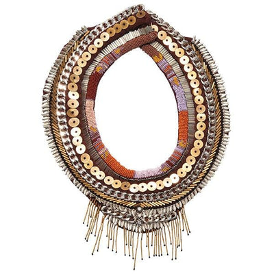 Aztec Petite Layne Necklace in Orange