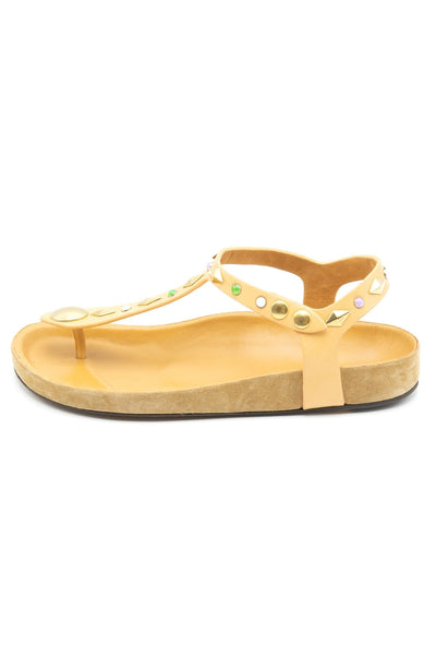 Enore Sandals in Light Beige