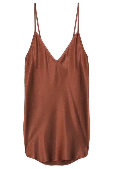 Stella Silk Cami in Chocolate