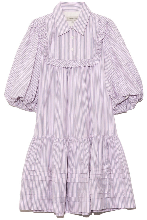 Anika Puff Mini Dress in Pink Stripe