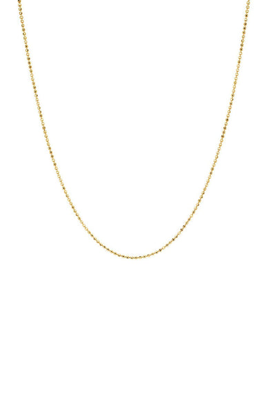 Gold Faceted Ball Chain 20-22""