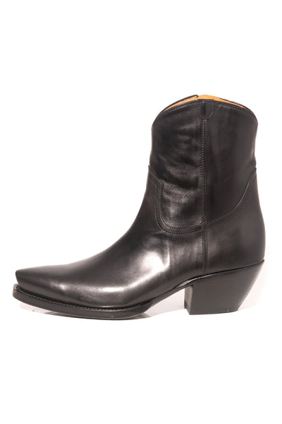 TS Cowboy Ankle Boot in Black