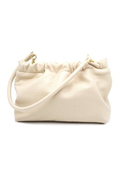 Ivory Clutch with Removable Strap
