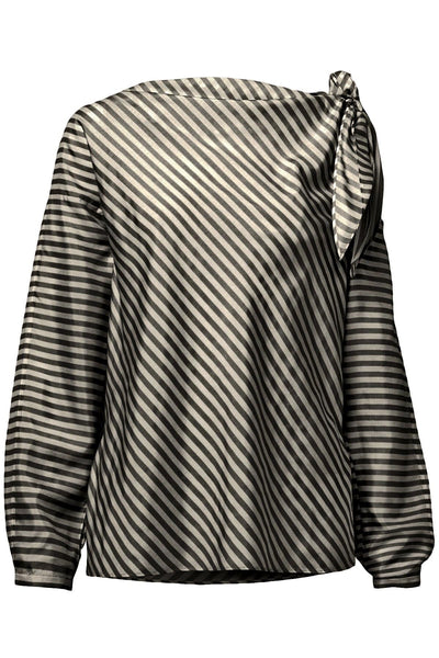 Striped Sensation Blouse in Beige Black Stripes