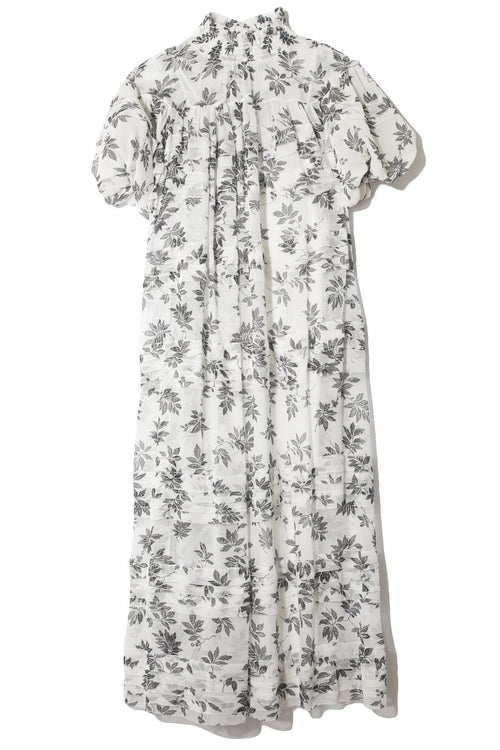 Lucy Puff Sleeve Maxi Dress in Floral Vine