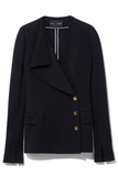 Jersey Suiting Jacket in Black