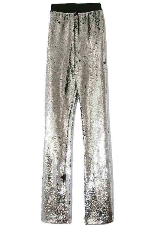 Kelly Pant in Silver/Black Paillettes