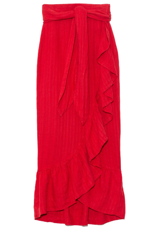 Eavan Skirt in Red