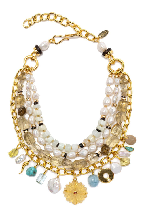 Golden Eye Necklace in Multi