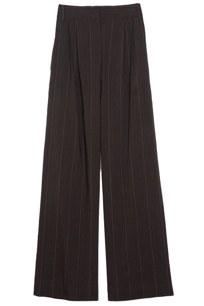 Isselin Stripe Stella Pleated Pant in Grey Multi