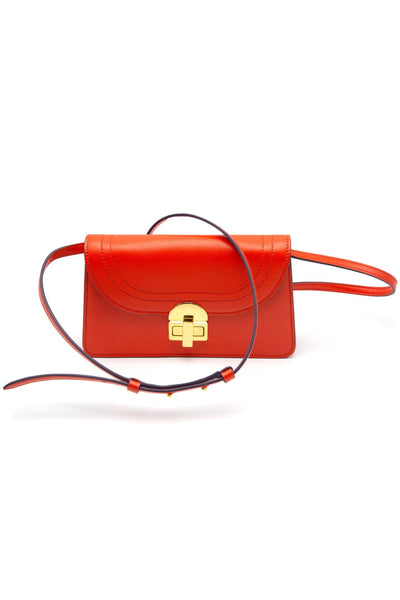 Leather Pochette in Tulip
