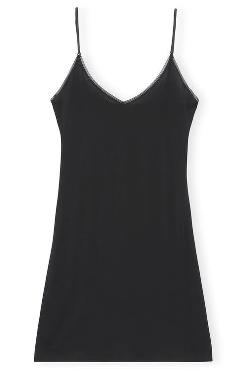 Rayon Slip Dress in Black