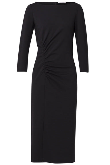 Emotional Essence Gathered Dress in Pure Black