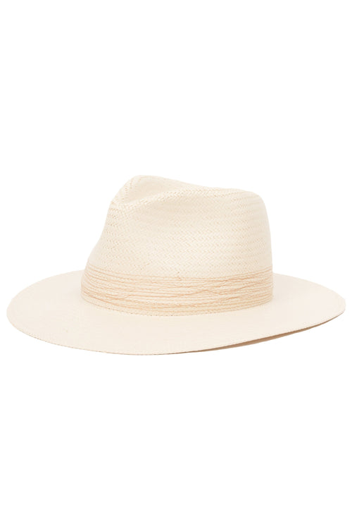 Packable Straw Fedora in Natural