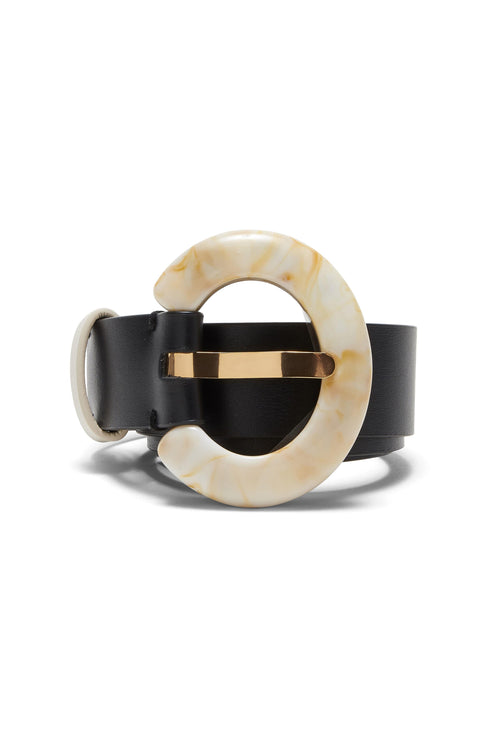 Sofia Belt in Black/Dune