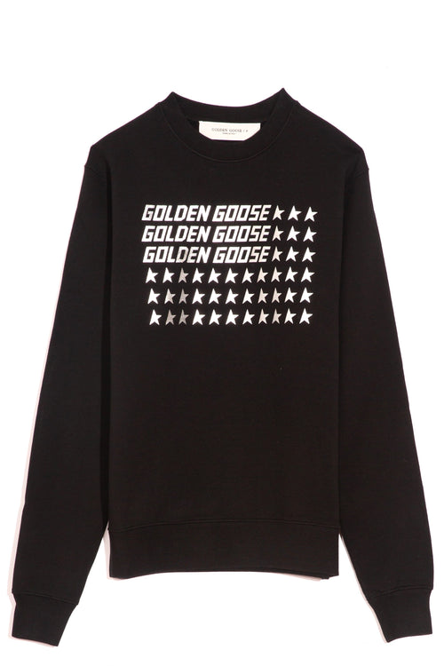 Catarina Sweatshirt in Black/Golden Goose Flag